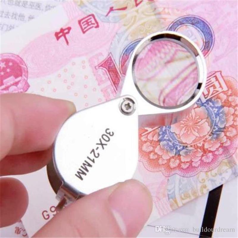 30x21mm Triplet Jewelers Eye Loupe Magnifier Magnifying Glass Jewelry Diamond US