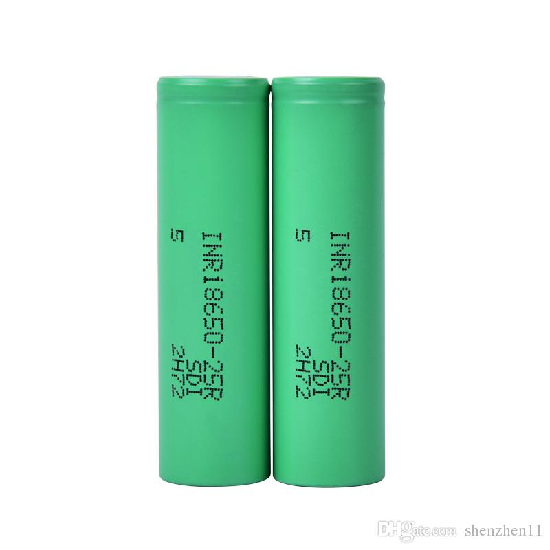100% High Quality 18650 Battery With 2500mAh MAX Rechargable Lithium Batteries For LG Cells Fit Vape Box FJ752