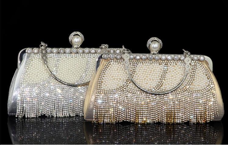 2020 Pochette diamante delle donne sacchetto del pranzo perline strass banchetto delle signore di sacchetto con Borse di nozze del partito degli accessori