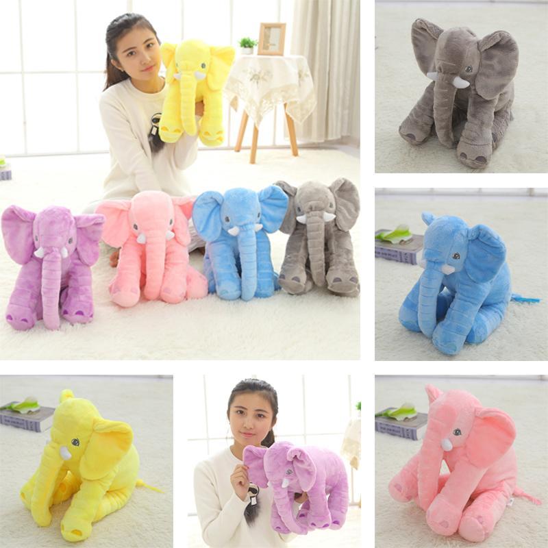 1pc 40cm neue Art und Weise Tiere Spielzeug Stuffed weichem Elefant Kissen Baby-Schlaf-Spielzeug-Zimmer -Bett-Dekoration Plüschtiere für Kinder