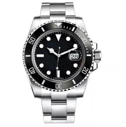 Top luxe lunette en céramique Mens mécanique en acier inoxydable Mouvement automatique Montre Sport Self-wind Watches designer montres Montre-bracelet