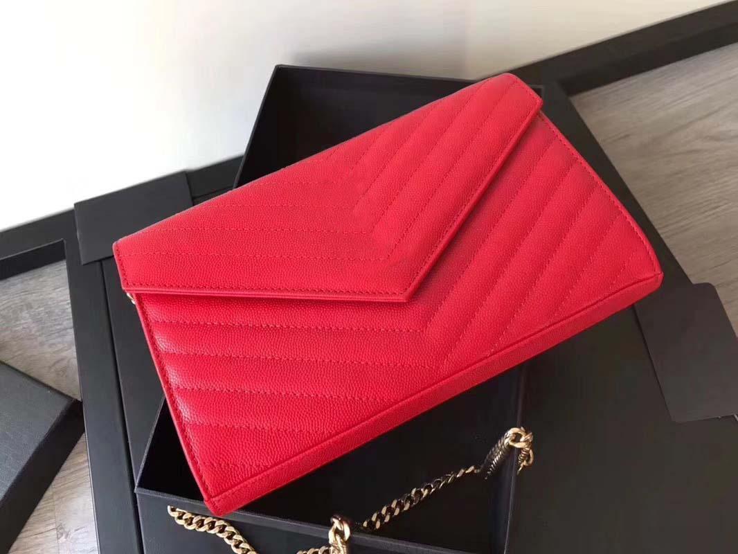 Классические женщины V Форма щиток сумка сумки конструктора женщин бумажник Crossbody посыльного сумки Single Золотой цепь сумка на ремень
