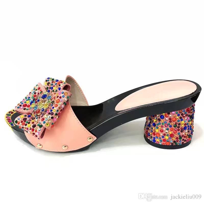 Africaines Africain Femmes La Pour Chaussures De Décoration Style En Robe Papillon Acheter Nœud Roses Pour Avec Des Chaussures Jolies Pour La Cristal rQtshBdCx