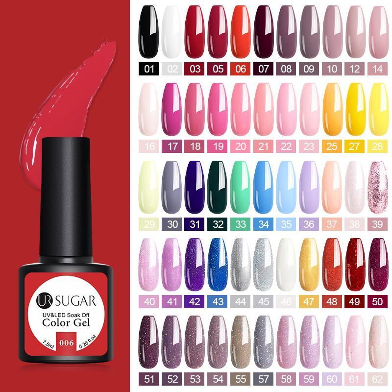Urzucker 122 farbe nagel gel polnisch eingestellt uv lack semi permanent einweichen gel lack nail art kit maniküren polnisch