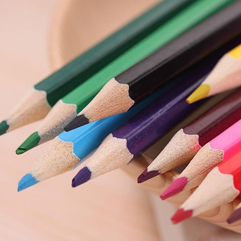 12 adet Renkler Ahşap Renkli Kalemler Lapis De Cor Sanatçı Boyama Okul Çizim Kroki Sanat Malzemeleri Için Yağlıboya Kalem ...