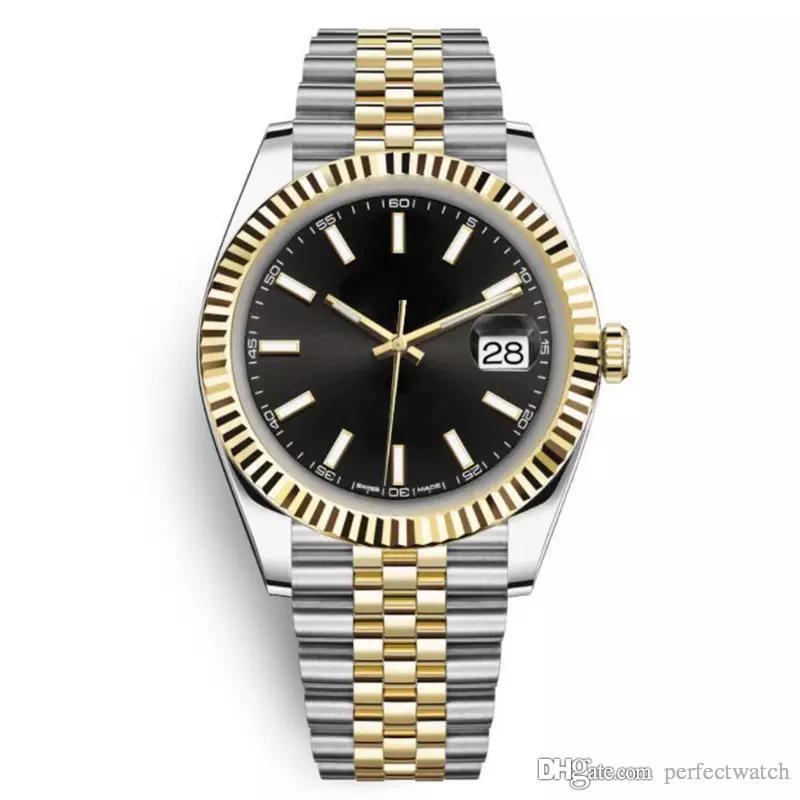 2019 vendita superiore 41 millimetri in acciaio inossidabile solido chiusura automatica movimento meccanico 2813 uomini orologio grande data presidente desinger orologi da uomo