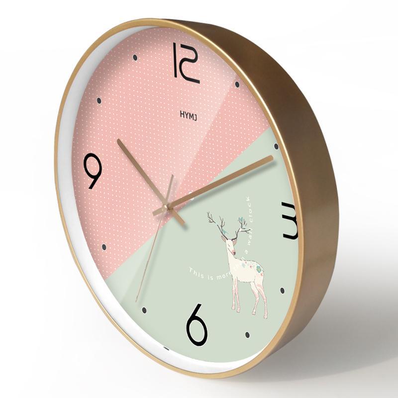 Modern Glod Duvar Saati Meatl Salon Yaratıcı Duvar Saatleri Ev Dekorasyonu Yatak Odası Sessiz Reloj De Pared Hediye Fikirleri FZ588
