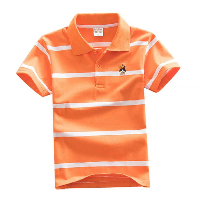 Neue Ankunft Kinder T Shirts Jungen Kleidung Lässige Baumwolle Kinder T Shirt Sommer Jungen Gestreifte Kurzarm Baumwolle T Shirt Dq300