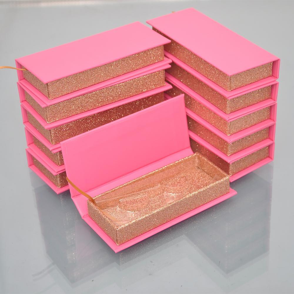 20 / pqt Cils Emballage Boîte Lash Boîtes d'emballage Faux Mink Lashes Strips vide Bulk Housse Faux Cils Box