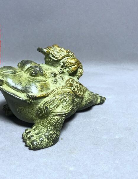 Antik Copperware Eski Malzemeler Antik Copperware Ev Toad servet bakır hazine dekorasyon kurbağa ofis dekorasyon rrbmn içine