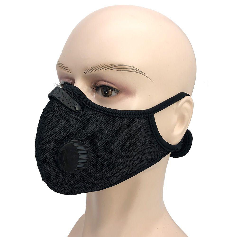 In bicicletta maschera di respirazione valvola viso maschere PM2.5 Filtro al carbone attivo Anti-Pollution Sport in esecuzione Maschera di protezione della bocca NUOVA copertura GGA3530