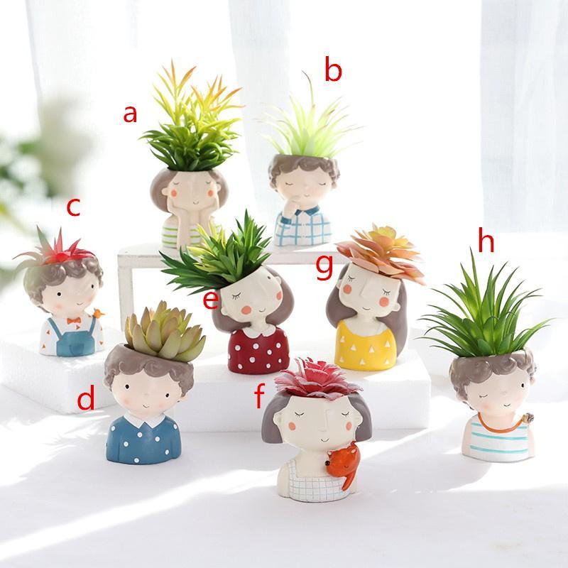 Сочные растения плантатор Европейский Стиль Цветок Mini Цветок кактуса горшок Рождество Свадьба Домашнее украшение Декор Craft