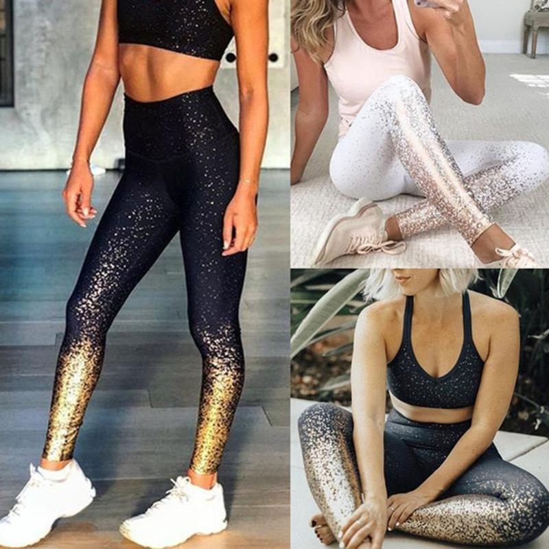 New Style Fashion Hot Women's Gym Fitness Leggings Running Sports Pants Workout Patchwork Trousers