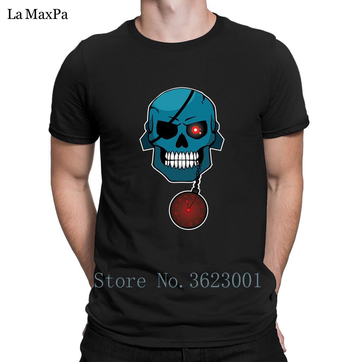 Personalidade Magro Homens Camiseta o ladrão do tempo camisetas para homens Roupa T-shirt dos homens Branded T-shirt O pescoço de alta qualidade