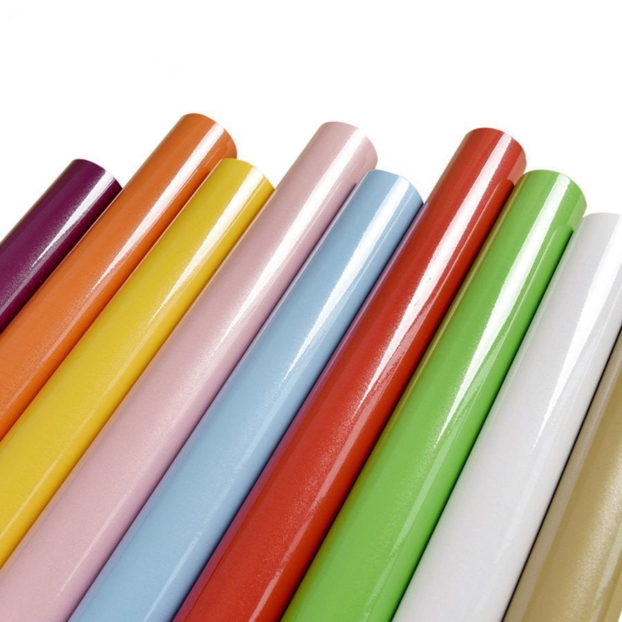 5M الوردي الطلاء للماء الفينيل ديكور فيلم لاصق الذاتي للجدران لفة لأثاث المطبخ ملصقات PVC ديكور المنزل