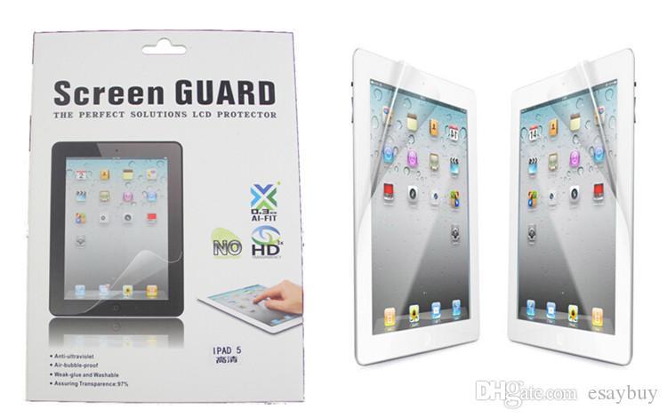 شاشة واقية عالية الوضوح لشاشة حماية LCD مع حزمة البيع بالتجزئة لـ Ipad Pro 2017 10.5 2 3 4 5 6 Ipad air 2 mini 4
