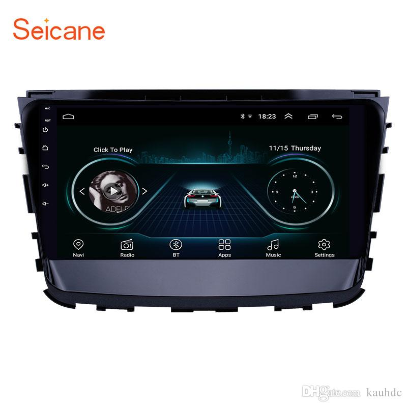 10.1 pulgadas Android 8.1 HD Pantalla táctil Navegación GPS Radio del coche para 2019 Ssang Yong Rexton con Bluetooth WIFI AUX compatible Carplay Mirror Link