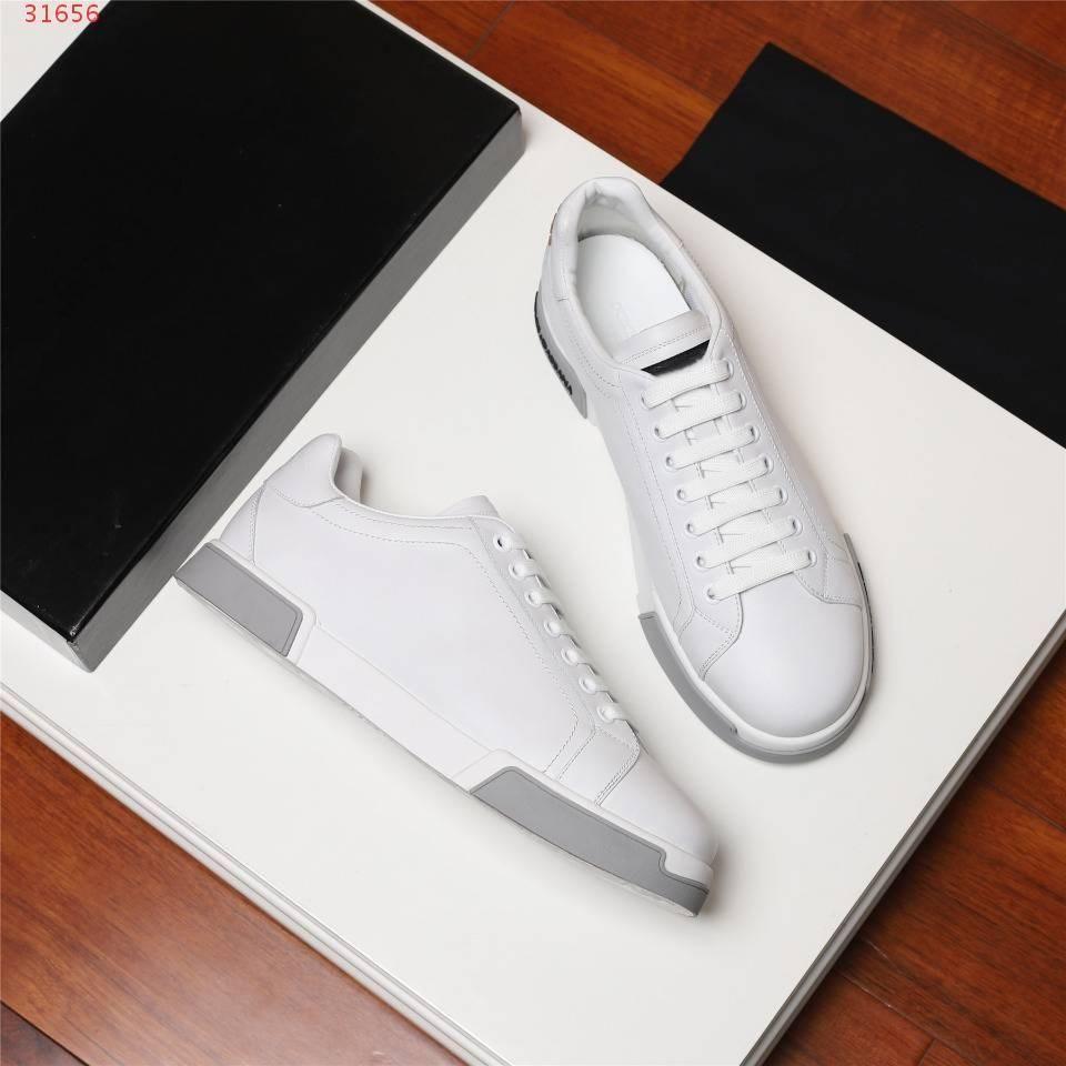 Nouveau Portofino en cuir de veau imprimé Nappa Chaussures de design de luxe décontracté caoutchouc bas tonales pour hommes unique lacets baskets avec boîte