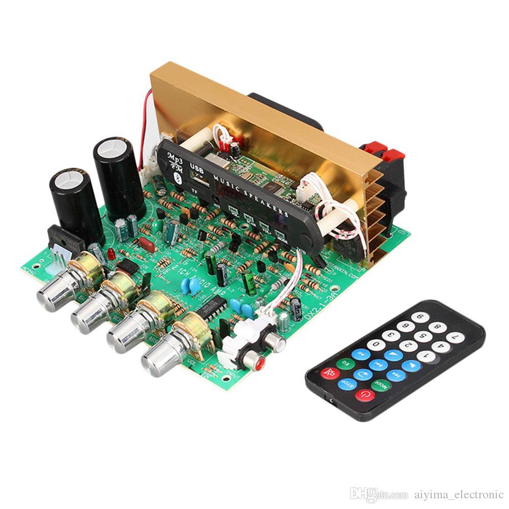 AIYIMA 2.1 Bluetooth аудио усилитель 80 Вт*2+80 Вт 2.1 канал с сабвуфером Amplificador доска поддержка AUX FM TF U диск домашний кинотеатр для DIY