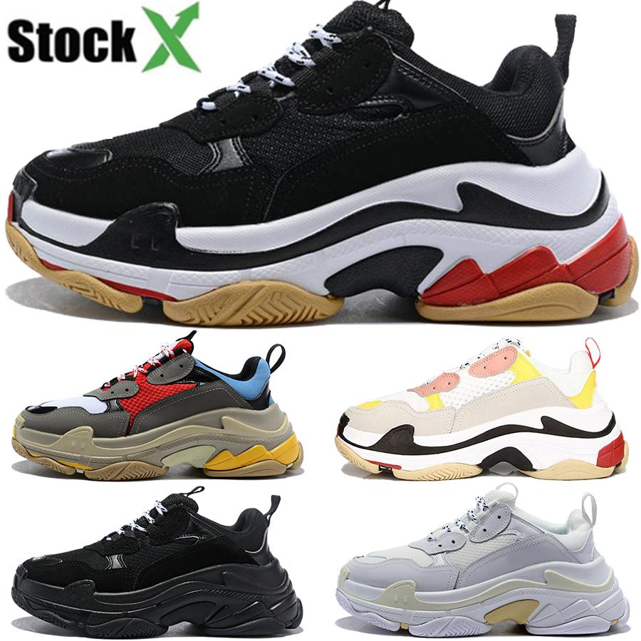 Free Shipping 2020 hot running shoes triple s men women designer shoe black white grey fashion luxury sneaker dad shoes top quality