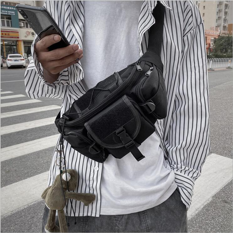 Designer Taille Sac Cadeau Emballage 19ss 18SS 44th Mode Unisexe Fannypack Mode Taille Toile Voyage Ceinture Sac Hommes Épaule Sac #T4B7