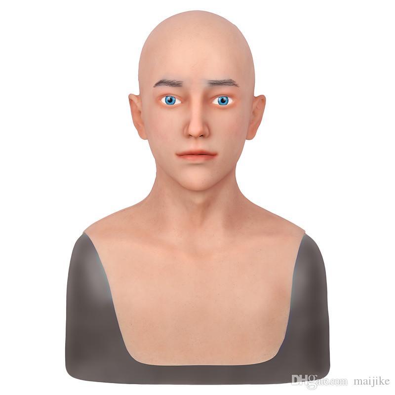 Realistische Silikon Masken Menschliche Haut Mann Gesicht Männlich Für Halloween DWT Cosplay Masruerade Fool's-Day Spoof Tricky Requisiten