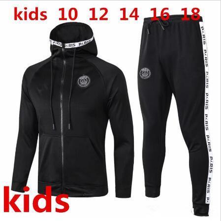 KIDS 2019 2020 paris soccer jacket training suit hoodie Survetement 19 20 kids paris MBAPPE maillot de footb air jordam TRACKSUIT