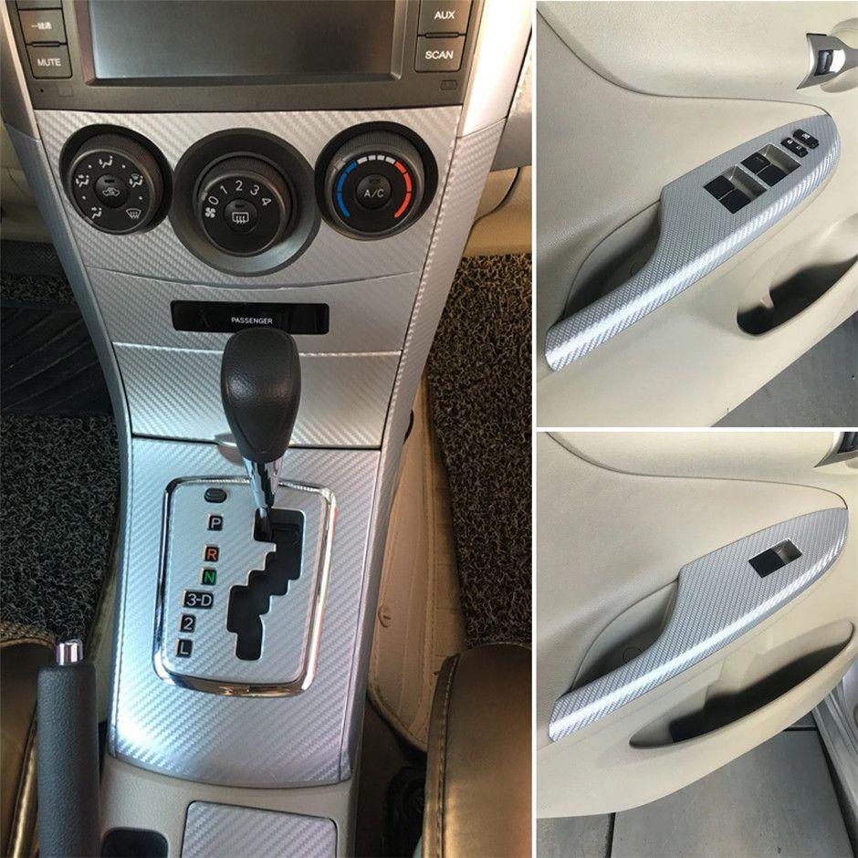 Per Toyota Corolla 2007-2013 adesivi in fibra di carbonio Adesivi 3D 5D dell'automobile del vinile autoadesivo auto e decalcomanie Accessori auto Styling