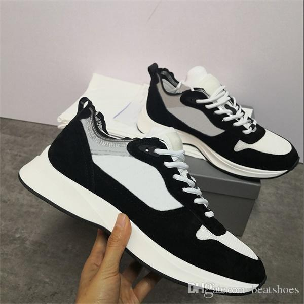 Best B25 Oblique Runner Sneaker Men Platform Shoes Designers Black White Suede Leather Trainers Mesh Lace-up Casual Shoes With Box.