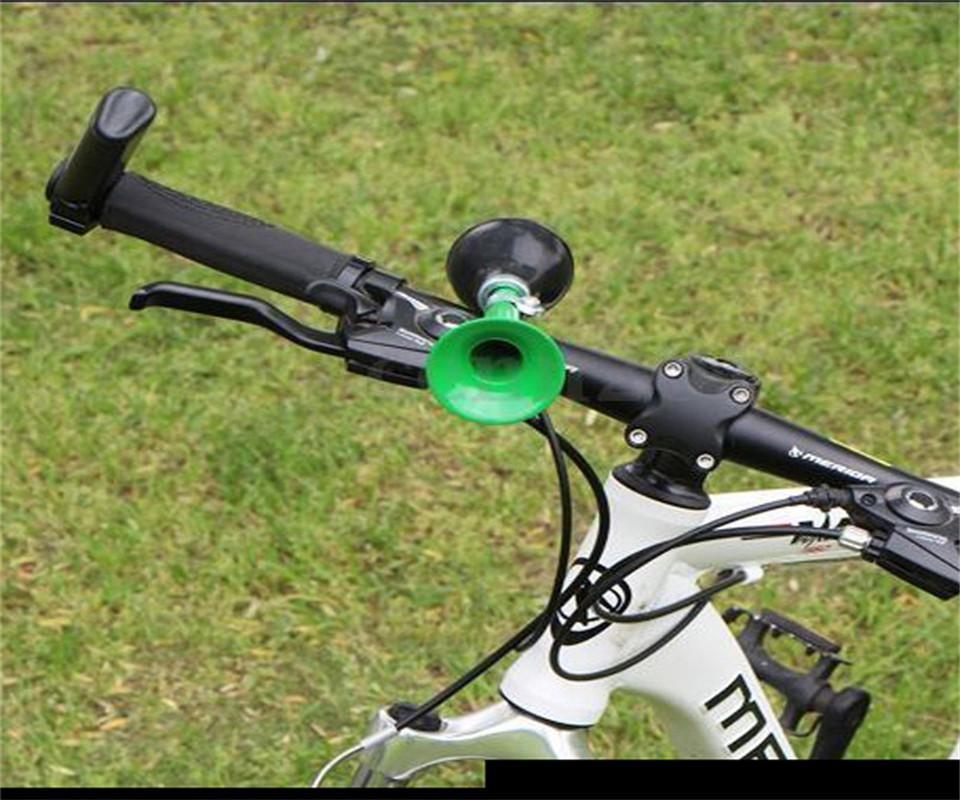Nouvelle corne à air de bicyclette galvanoplastie 9 haut-parleurs pouces corne d'air droit montagne, vélo cloche vélo accessoires
