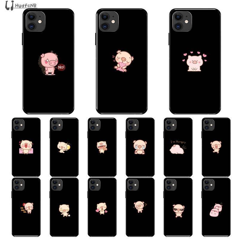 2020 Cartoon mignon de porc de haute qualité Téléphone pour iPhone 11 pro XS MAX 8 7 6 6S Plus X 5 SE XR 5S commerce de gros