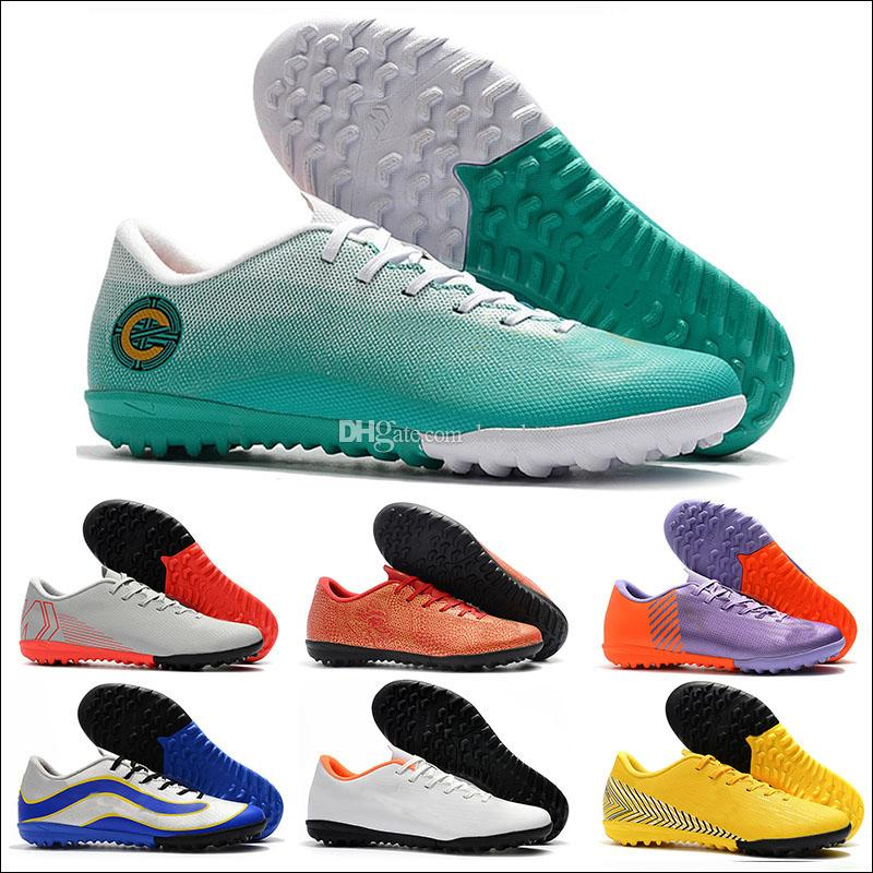 En kaliteli, düşük futbol krampon VAPORX 12CLUB TF CR7 Mercurial Superfly VI 360 Elite futbol ayakkabıları erkek ayakkabıları
