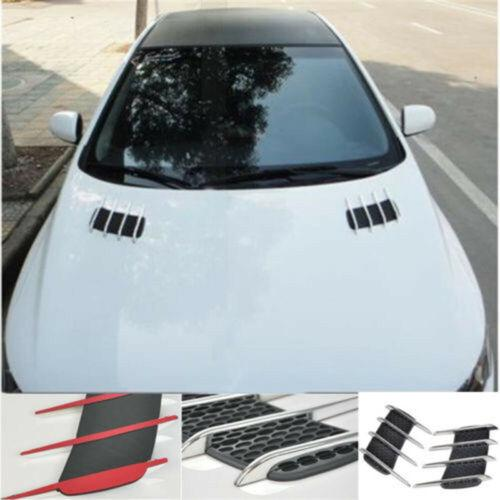 Car Side Air Flow Vent Hole Cover Fender Intake Grille Duct Decor Sticker ABS