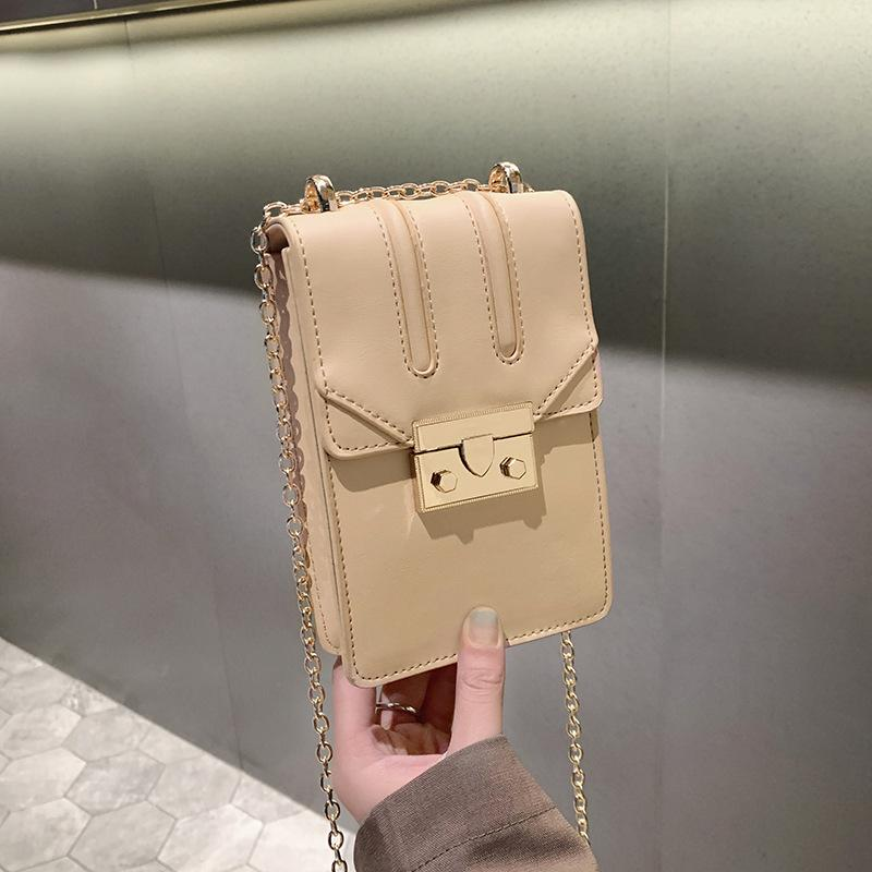Pop2019 Phone Mobile Single Shoulder Woman Trend Concise High A Wide Range Of Stalls And Slants Small Square Package Packet