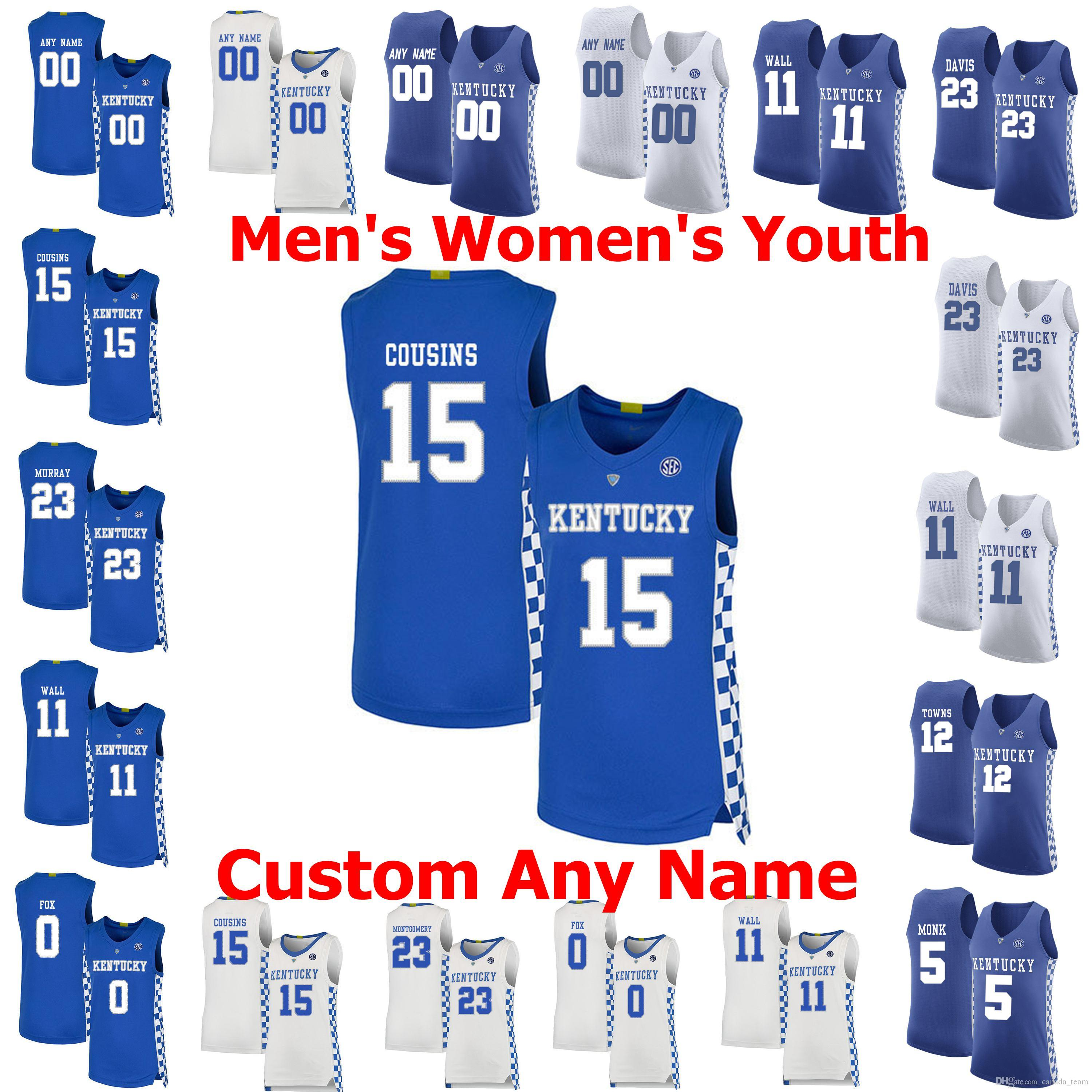 2020 Kentucky Wildcats College Basketball Jerseys 3 Tyrese Maxey Jersey 5 Immanuel Quickley 10 Johnny Juzang 23 E J Montgomery Stitched Custom From Canada Team 12 98 Dhgate Com