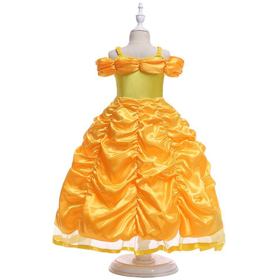 الأميرة فتاة اللباس الفتيات ملابس الأميرة اللباس العزاء حزام بنغ بنغ كم عيد الميلاد حزب هالوين فتاة تأثيري اللباس