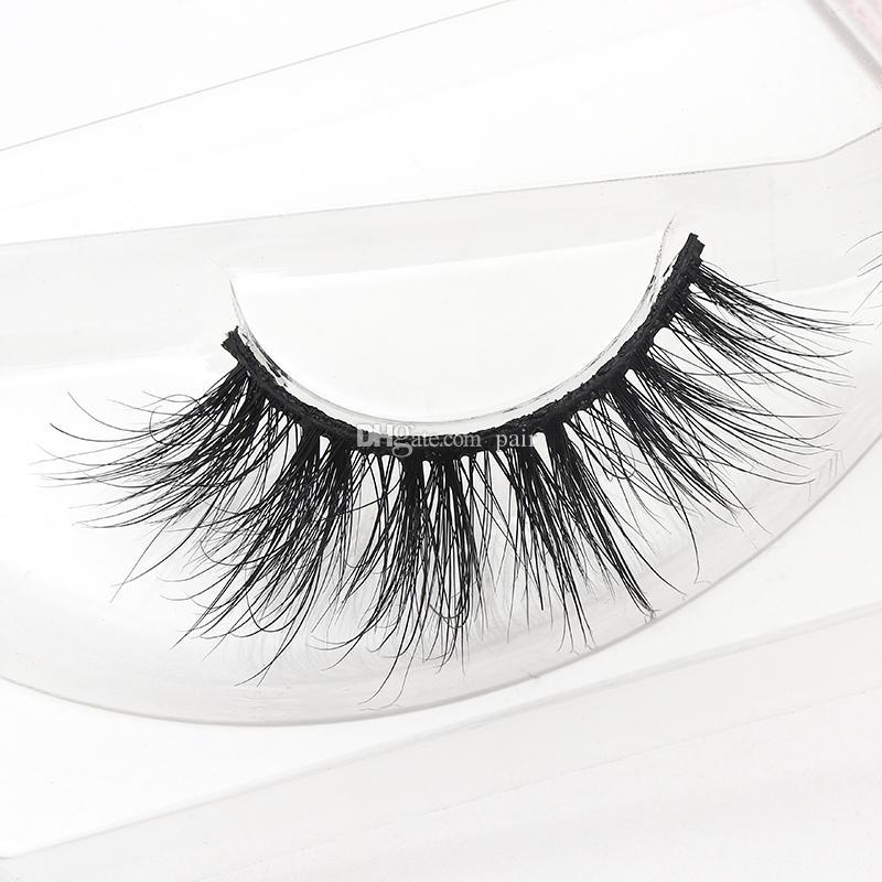 Wholesale handmade false eyelashes 100% Real Mink Fur Private Label 5D Mink Eyelash hot sale mink eyelashes