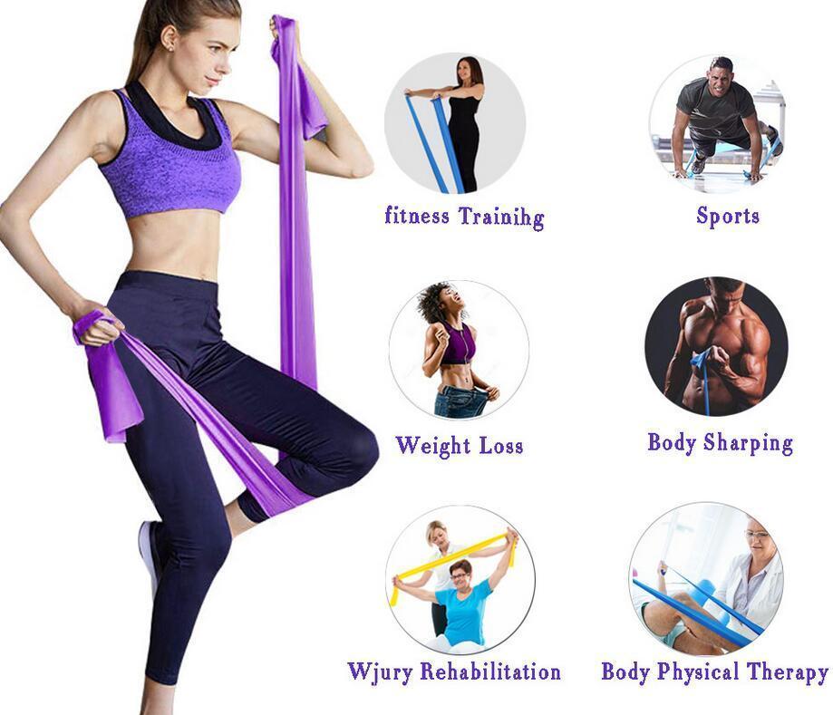Fitness Elastico palestra fasce Forza di resistenza corda Pilates Sport elastico per fitness Crossfit allenamento fasce elastiche Attrezzature