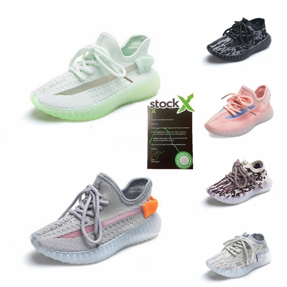 2020 Bebê Kids Shoes argila V2 Running Shoes estática Reflective Boy Girl Kanye West Beluga 2,0 Sneakers criança instrutor Crianças Atlético Sh # 15