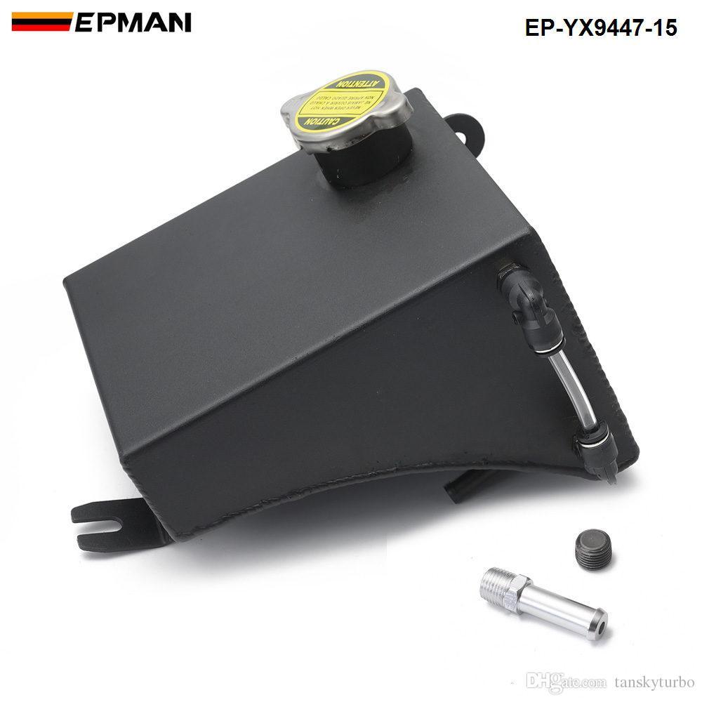 EPMAN Alüminyum Soğutucu Taşma Tankı Rezervuar Kiti için 240SX S13 SR20DET KA24DE KA24E KA24 (Fits: 240sx) EP-YX9447-15