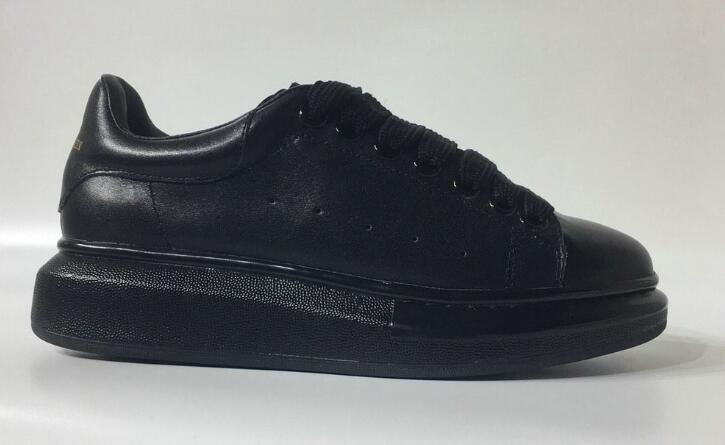 Hermoso casual zapatillas de deporte de la plataforma de los diseñadores de lujo del cuero de zapatos de cuero de los colores sólidos de moda Ocio Zapato de vestir para hombres y mujeres