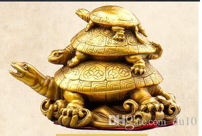 Cabeça de cobre de animais real puro bronze estátuas de Tartaruga de cobre longevidade tartaruga escultura tartaruga artesanato escultura decoração de artesanato Antigo Cop