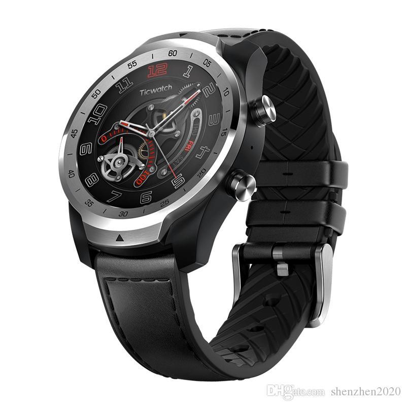 Оригинал Xiaomi Youpin Ticwatch Pro Bluetooth Smart Watch Поддержка NFC Платежи / Google Assistant Wear OS от Google GPS Watch 3007950