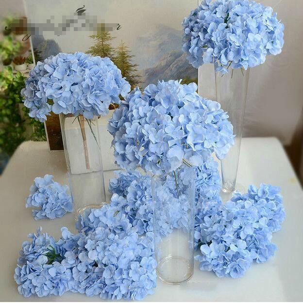 Simulato testa ortensia variopinti stupefacenti fiore decorativo per la festa nuziale di lusso artificiale Ortensia seta decorazione floreale GA523