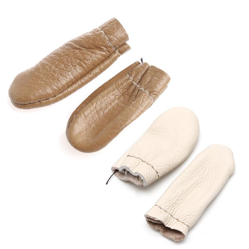 Mini 1Pairs Needle Felting Leather Finger Protectors Tools For Hand Craft