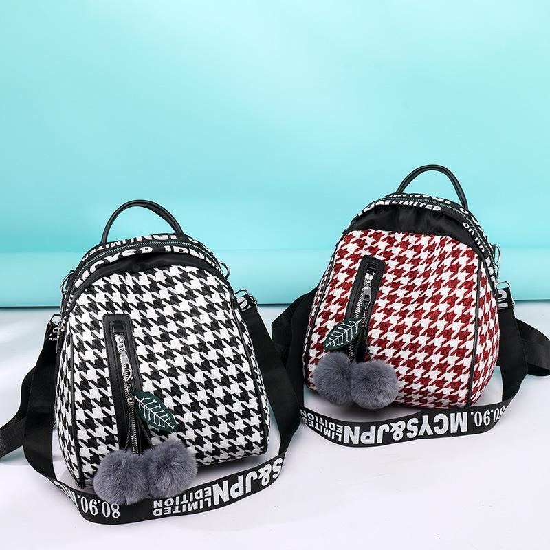 Sac à bandoulière Sac femme 2019 nouvelle couleur hit de la mode coréenne plaid sacs en tissu oxford sont des mini sac à dos léger féminin