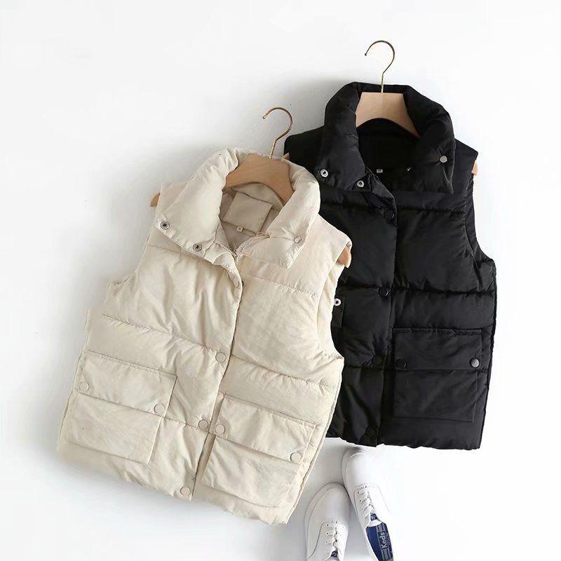 Mulheres à prova de vento Vest Quente colete de Mulheres Big bolso Streetwear Efeitos Cats Levante jaquetas de garganta Mouwloos Mulheres