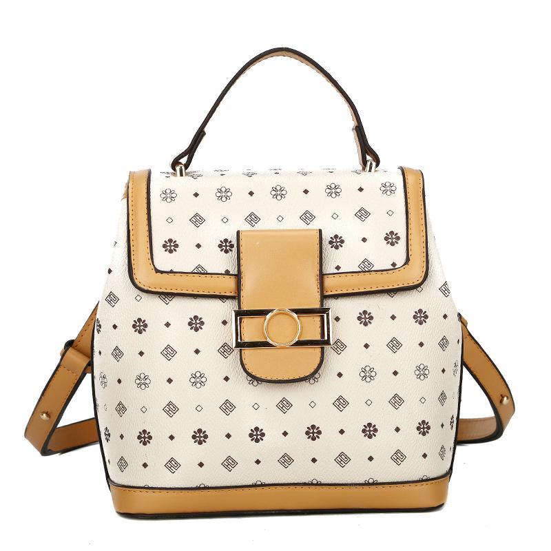 Rosa Sugao zaini dello zaino del progettista di lusso per le donne di fiori zaino stampato borse borse moda in pelle di marca