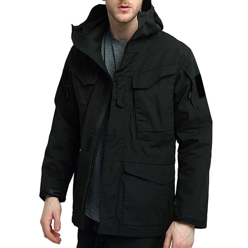 HEFLASHOR masculino caliente de esquí chaqueta con capucha de la montaña Abrigo de invierno impermeable a prueba de viento impermeable de secado rápido Parka bolsillo Trench chaquetas