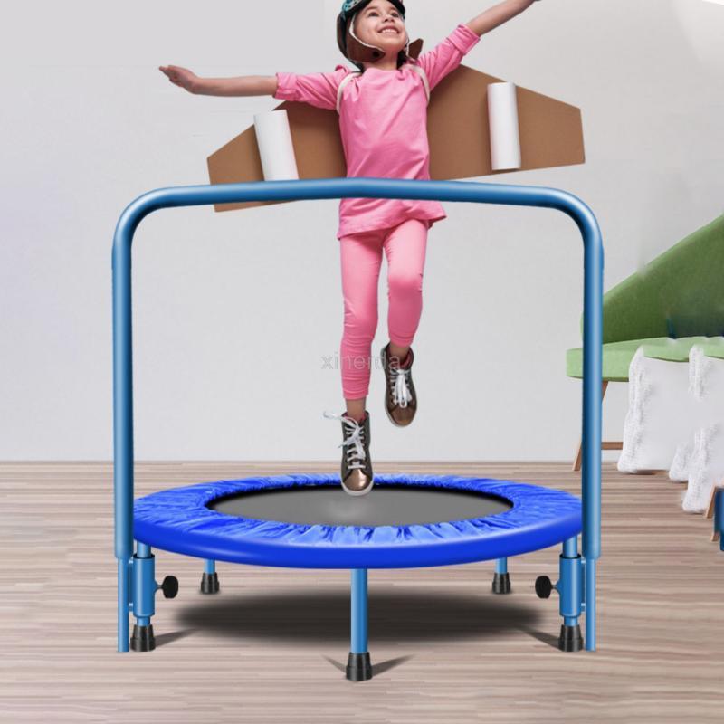 91 centímetros trampolim com alça Bar For Children Baby Kids fitness Indoor / Outdoor bungee trampolim Rebounder Jumping Cardio instrutor